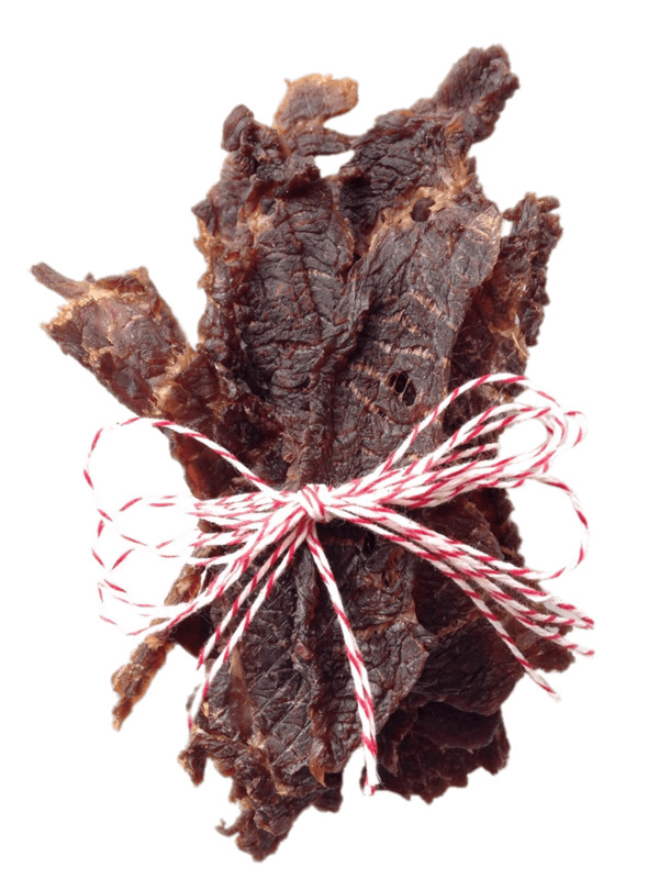 Strips Of Beef Jerky Tied Together PNG Image