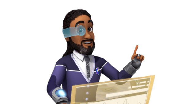 Dr. Consilium In Front Of His Screen PNG Image