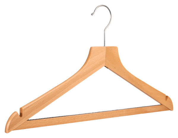 Wooden Clothes Hanger PNG Image
