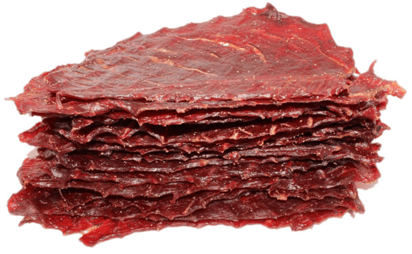 Piled Up Slices Of Beef Jerky PNG Image