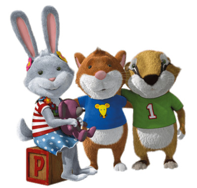 Tip the Mouse With Rabbit and Badger PNG Image