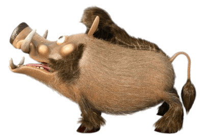 Fred the Boar Side View PNG Image