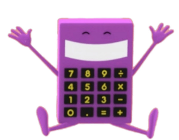 Counting With Paula Character Calc the Calculator PNG Image