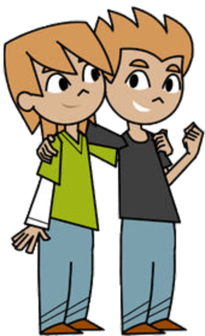 Fishtronaut Characters Billy and Mac the Twins PNG Image