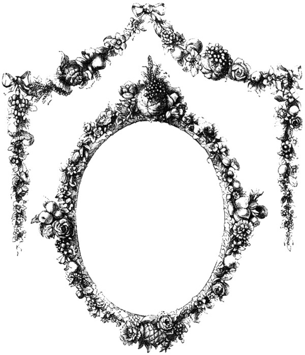 Vine Frame With Flowers PNG Image