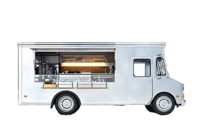 Food Truck Side View PNG Image