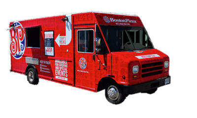Boston Pizza Food Truck PNG Image