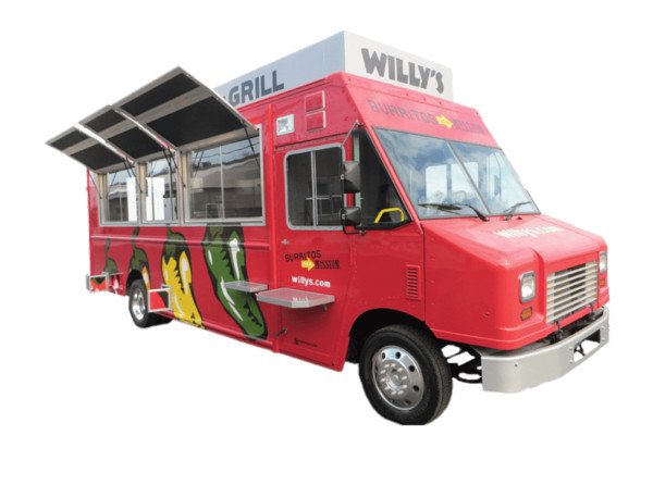 Willy's Mexican Grill Food Truck PNG Image