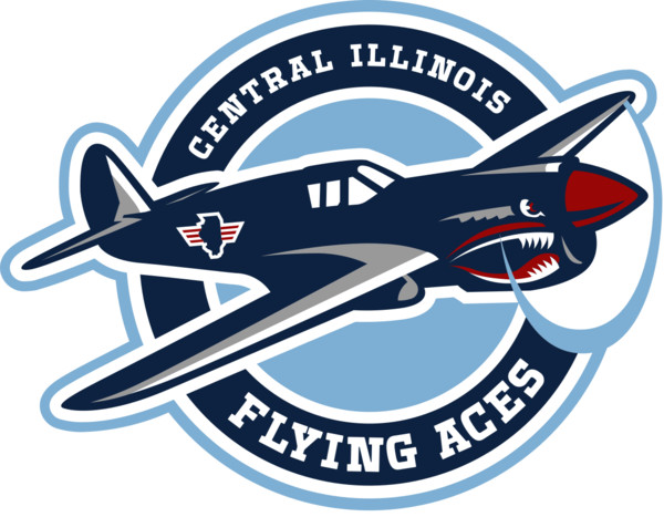 Central Illinois Flying Aces Logo PNG Image