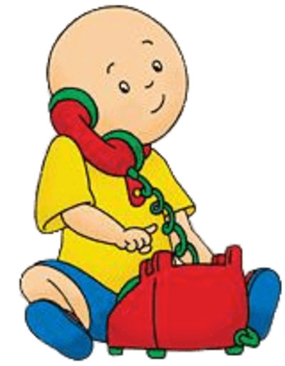 Caillou Calling on the Phone PNG Image