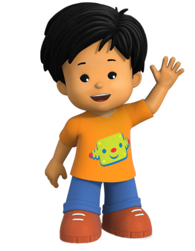 Little People Koby Waving PNG Image