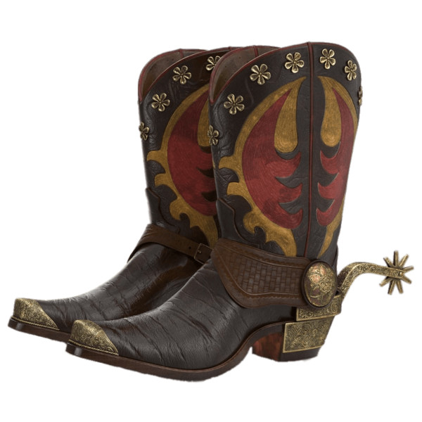 Cowboy Boots With Spurs PNG Image