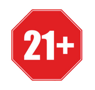 21+ Age Restriction PNG Image