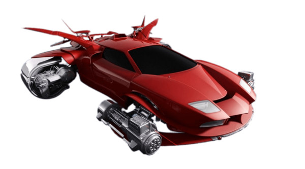 Futuristic Flying Car PNG Image