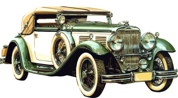 Old Luxury Car PNG Image