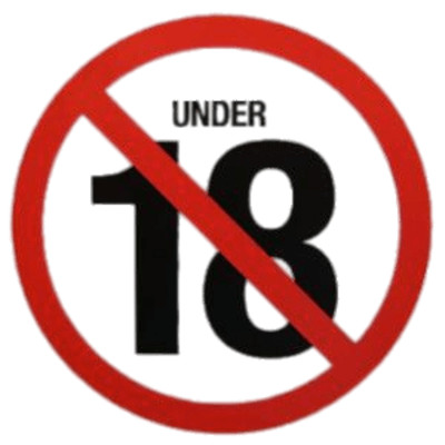 No Under 18's Age Restriction PNG Image