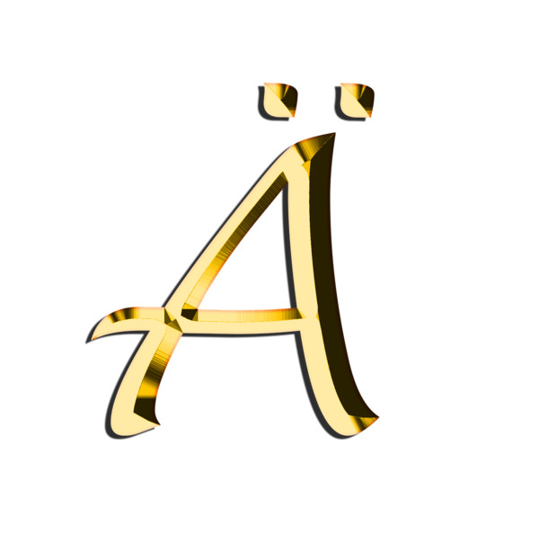 Capital Letter A With Diaeresis PNG Image