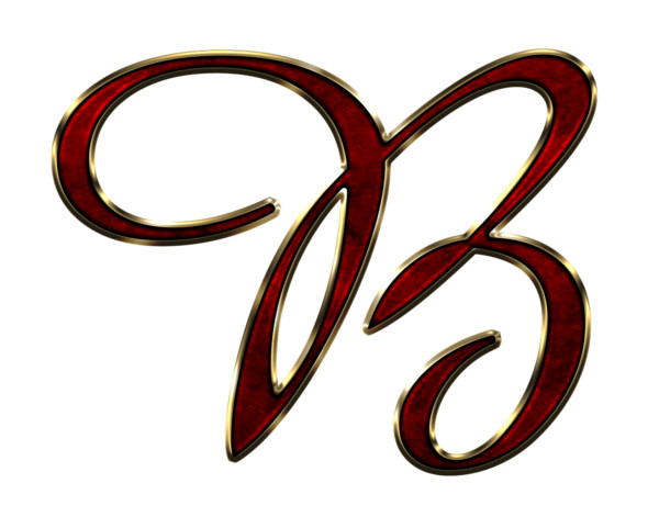 Capital Letter B Red PNG Image