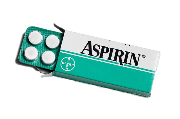 Box Of Aspirin and Tablets PNG Image