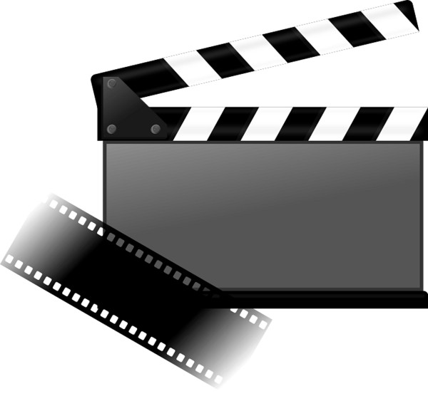 Clapperboard and Movie Strip PNG Image
