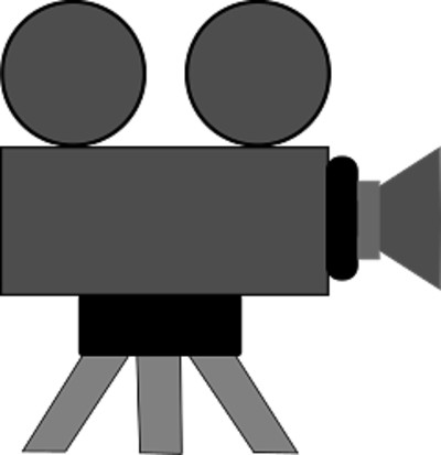 Grey Silhouette of Camera PNG Image