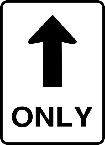 One Way Street Road Sign PNG Image