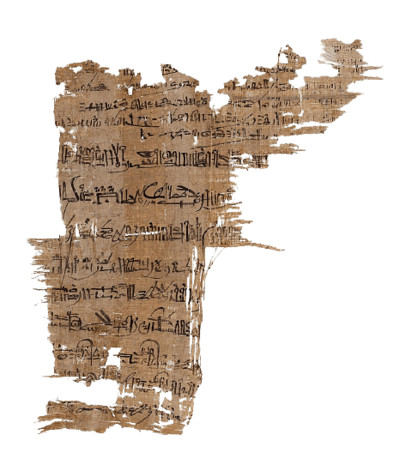 Papyrus Fragment Egypt Torn Paper PNG Image