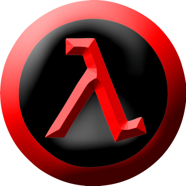 Half-Life red and black logo PNG Image
