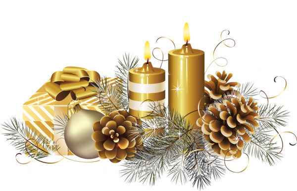 Christmas candle   - Download on PNGPX