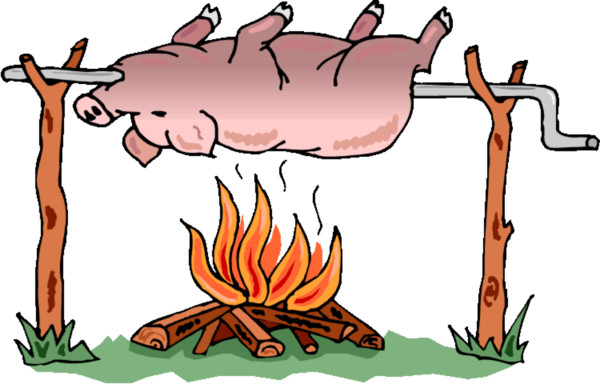 Barbecue Flower Organism Roast Pig    HQ PNG Image