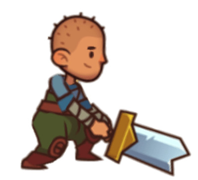Almost A Hero Character Hilt PNG Image