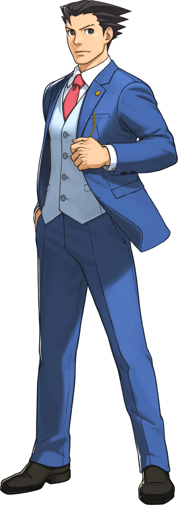 Ace Attorney Standing PNG Image