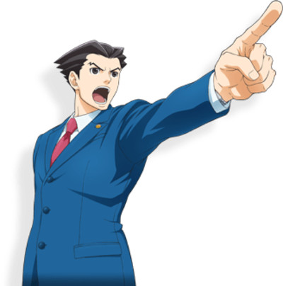 Ace Attorney Shouting PNG Image
