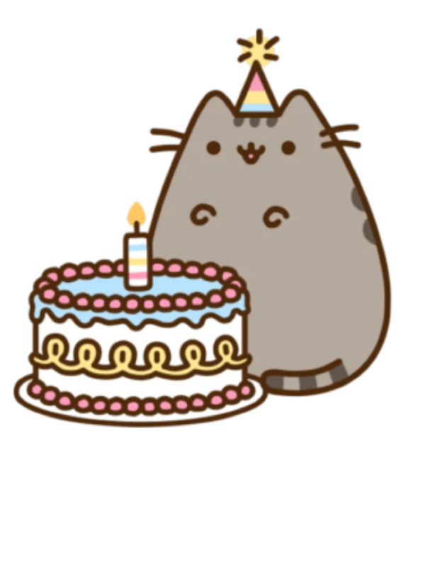 Food Pusheen Birthday Cake Cat HQ    - Download on PNGPX