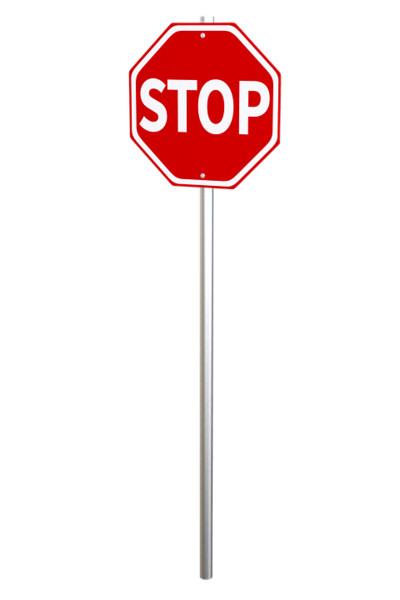 Stop Sign on Pole PNG Image