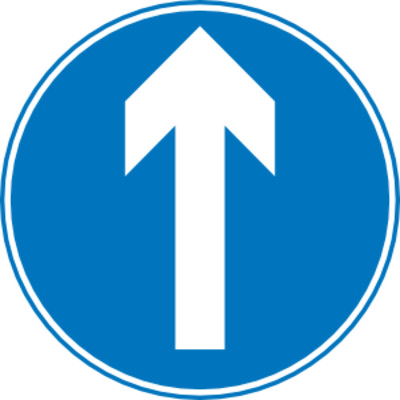 Straight Ahead Traffic Sign PNG Image