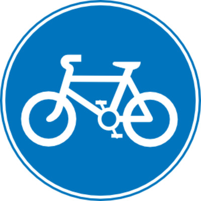 Bicycle Path Traffic Sign PNG Image