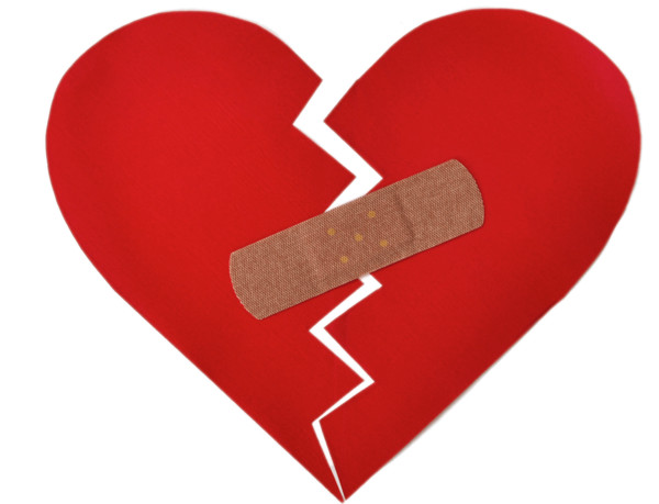 Broken Heart With Bandaid PNG Image