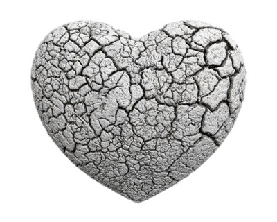 Fractured Heart Ash PNG Image