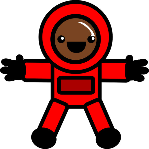Astronaut in Red Suit PNG Image