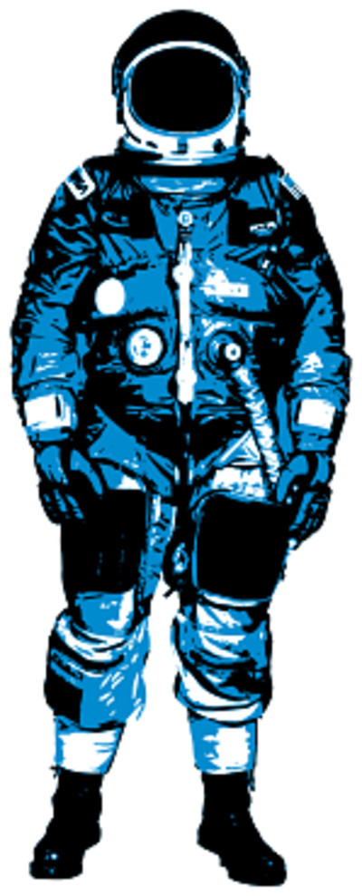 Astronaut Blue Drawing PNG Image