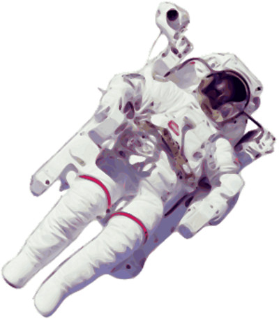 Astronaut on Space Walk PNG Image