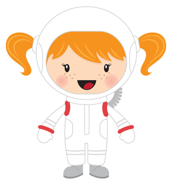 Little Girl Astronaut PNG Image